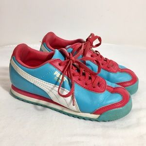 Puma Roma Little Kids Shoes Size 12 US Blue Red